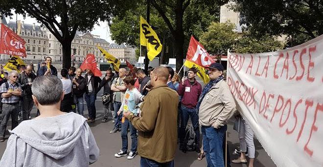 Manifestation La Poste 8 juin 2017