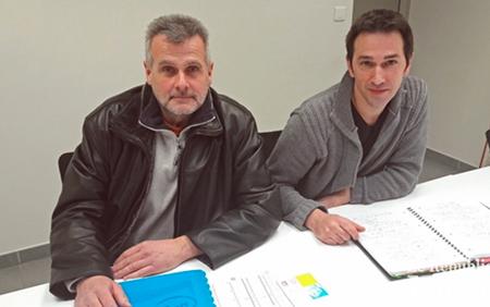 """Christophe Busalb et Frédéric Muller, délégués FO à La Poste en Moselle, constatent que """" la réorganisation est mise en place avec un manque de professionnalisme évident, à Forbach en particulier."""