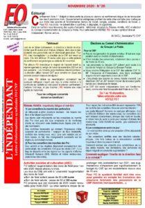 FO_ L'INDEPENDANT N26-Télétravail-AMETIS-Élection CA Groupe La Poste et ASC (3)
